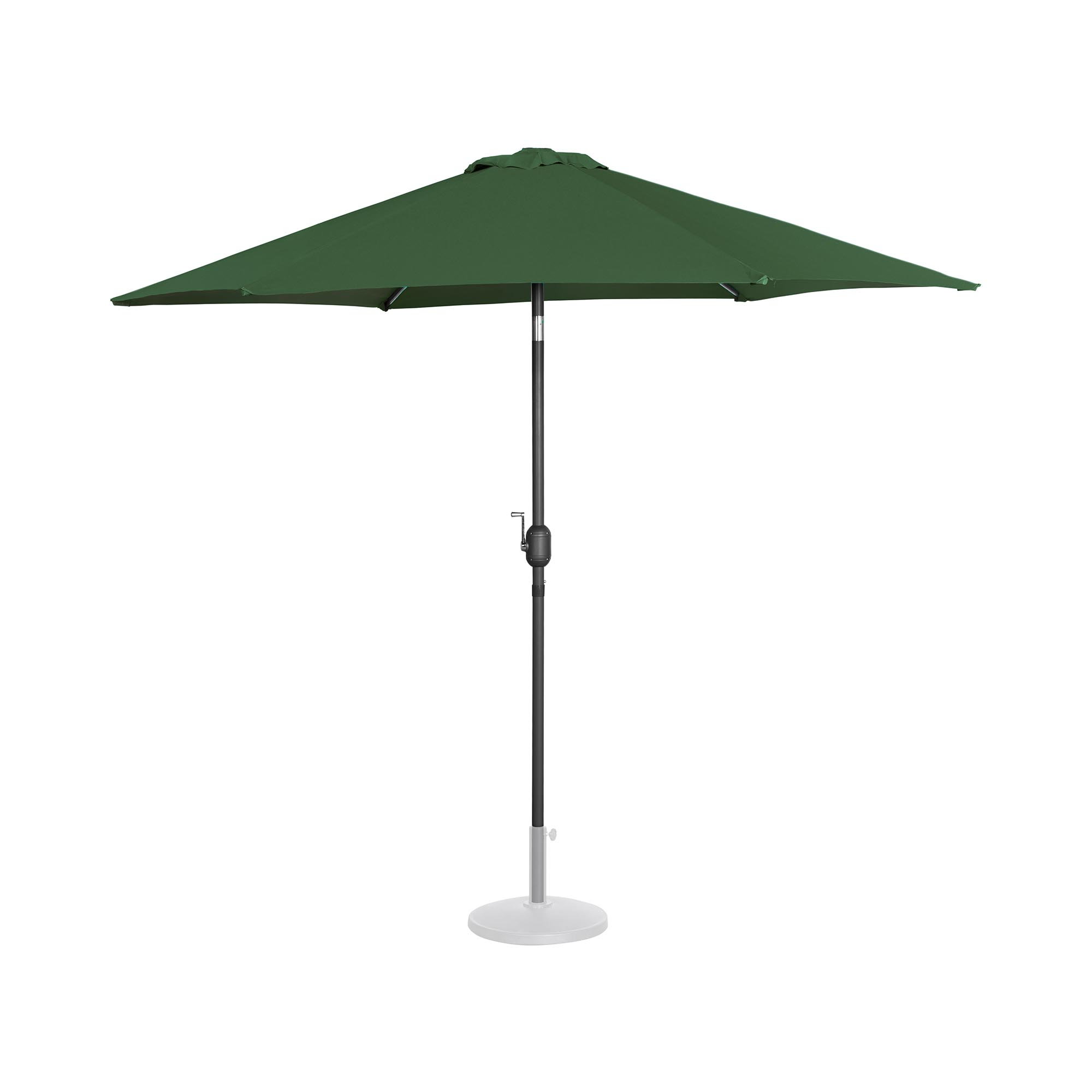 Uniprodo Sonnenschirm groß - grün - sechseckig - Ø 270 cm - neigbar UNI_UMBRELLA_R270GR