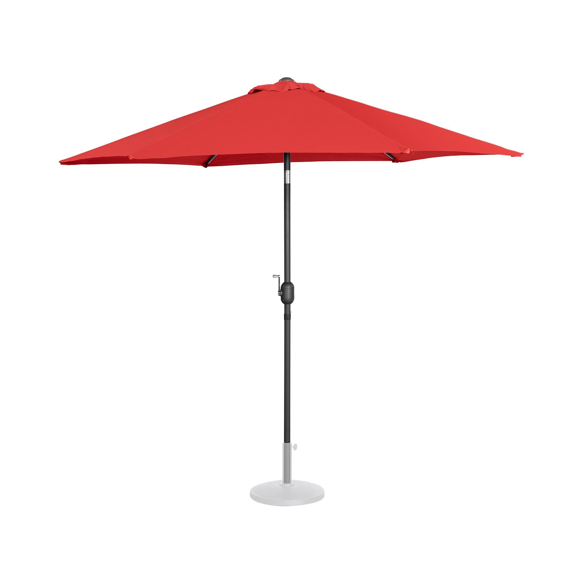 Uniprodo Sonnenschirm groß - rot - sechseckig - Ø 270 cm - neigbar UNI_UMBRELLA_R270RE