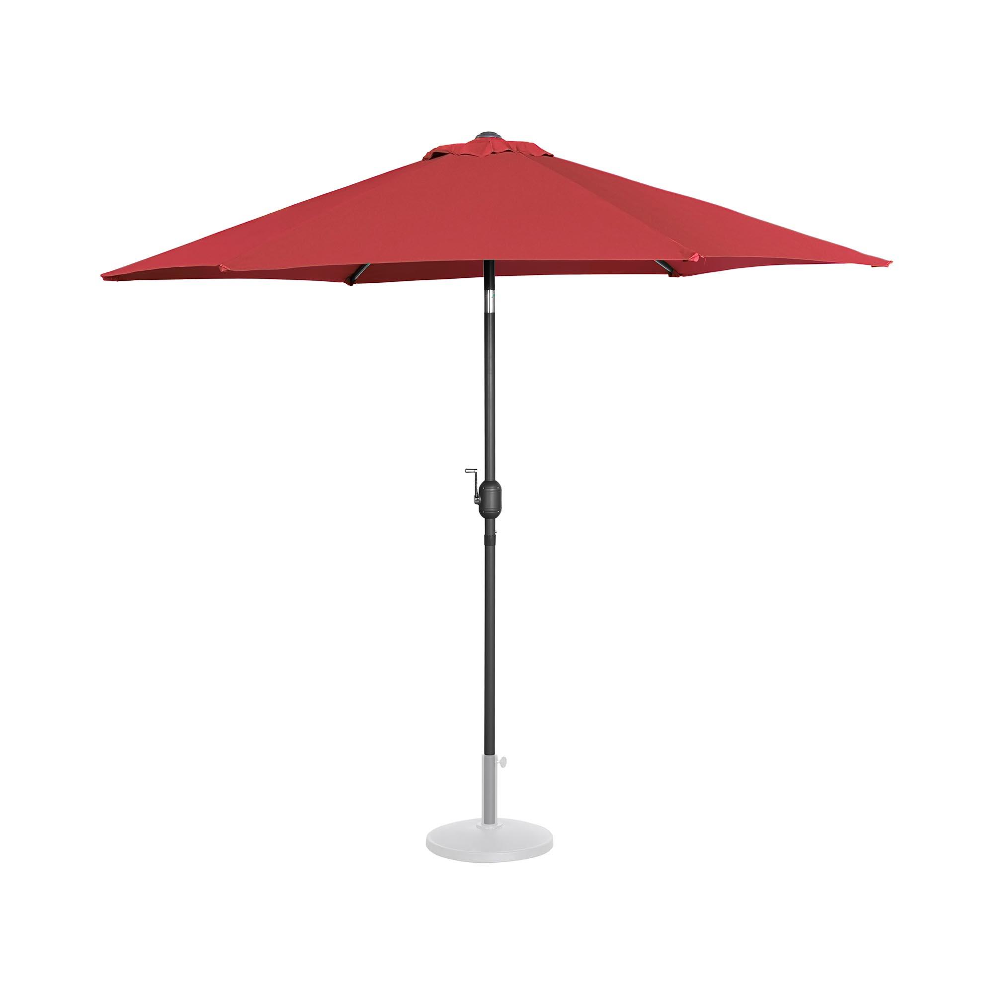 Uniprodo Sonnenschirm groß - bordeaux - sechseckig - Ø 270 cm - neigbar 10250144