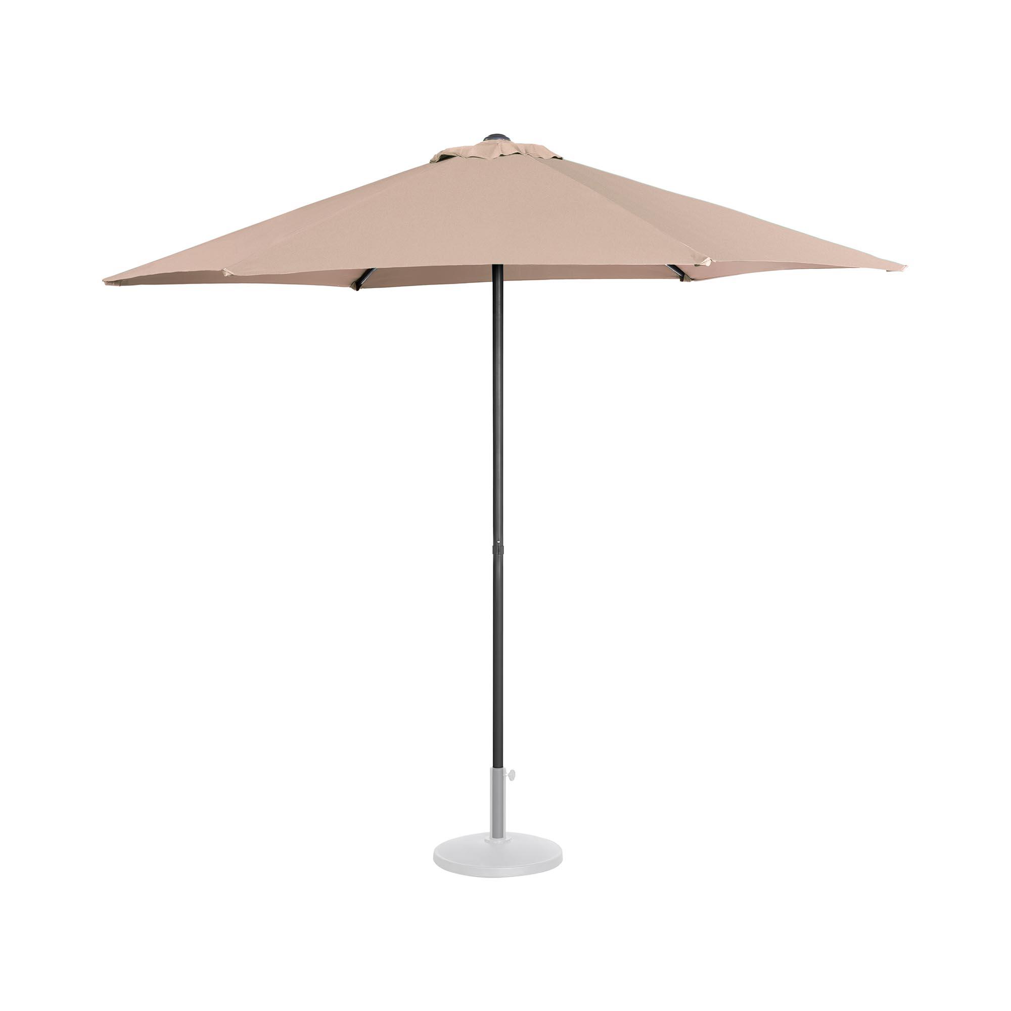 Uniprodo Sonnenschirm groß - creme - sechseckig - Ø 270 cm UNI_UMBRELLA_MR270CR