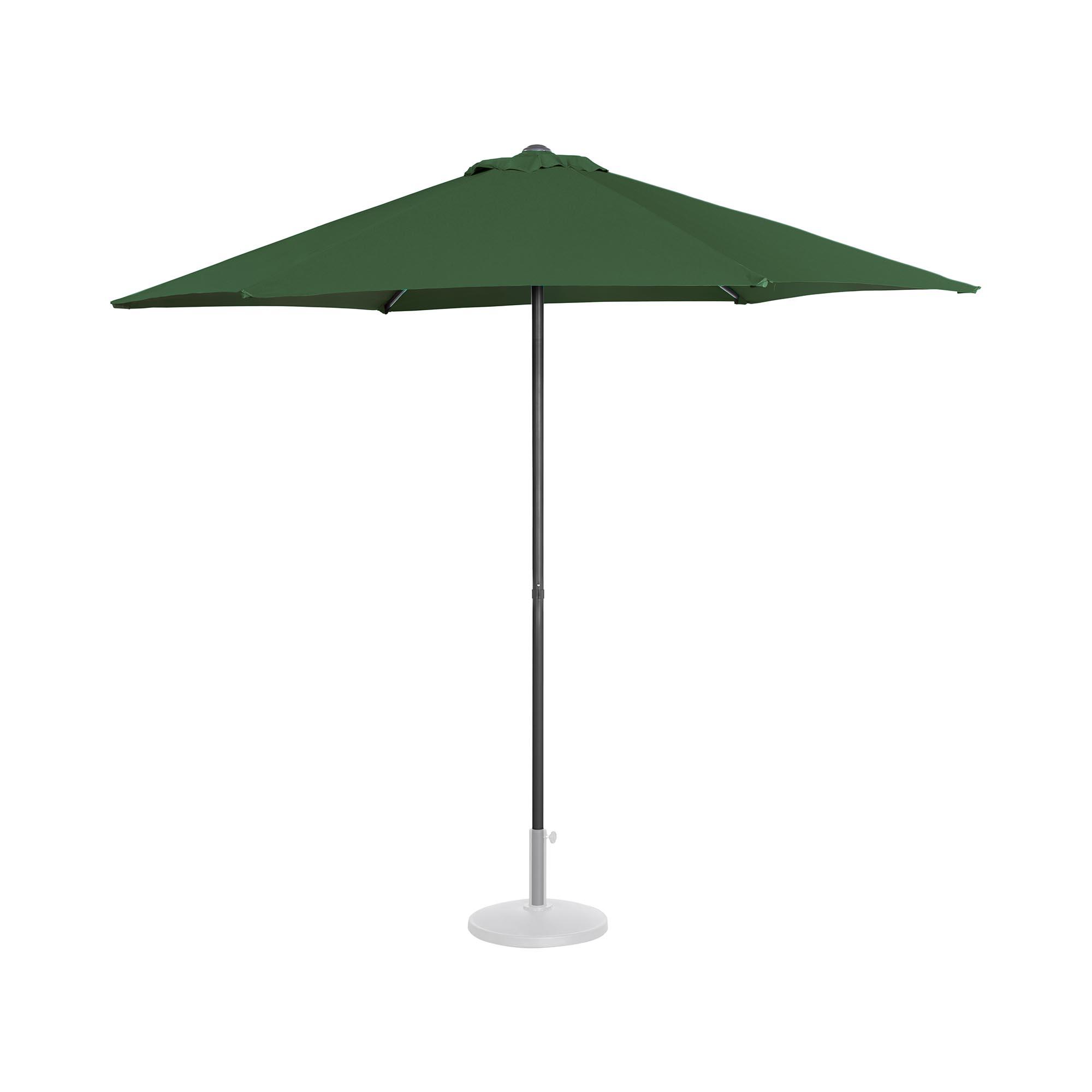 Uniprodo Sonnenschirm groß - grün - sechseckig - Ø 270 cm UNI_UMBRELLA_MR270GR