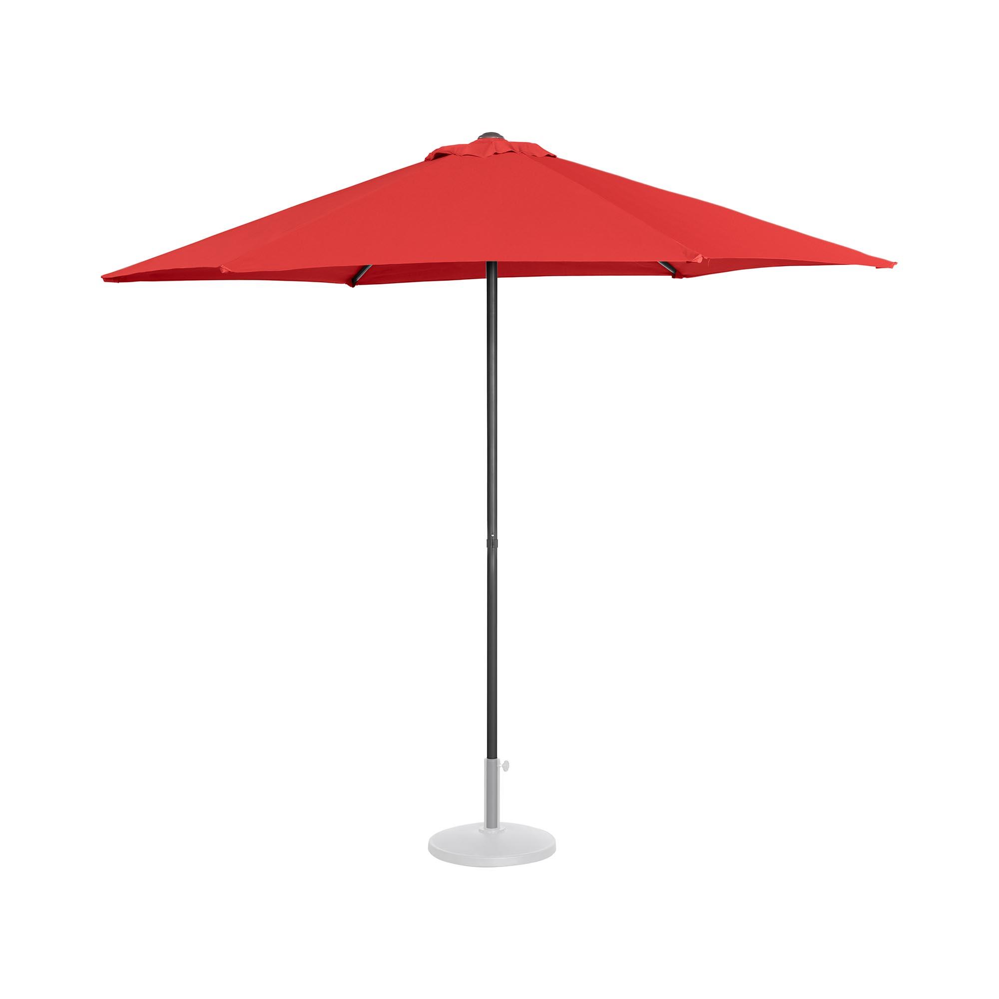 Uniprodo Sonnenschirm groß - rot - sechseckig - Ø 270 cm UNI_UMBRELLA_MR270RE