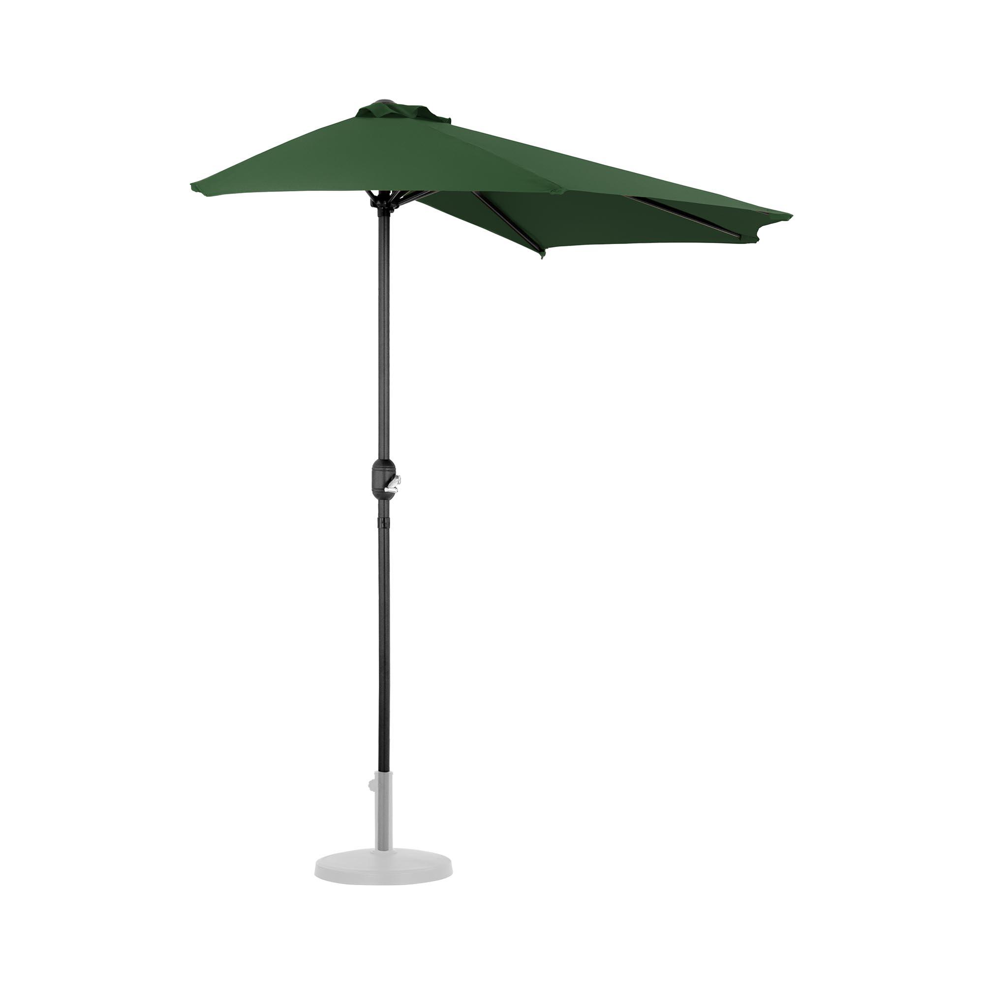 Uniprodo Halber Sonnenschirm - Grün - fünfeckig - 270 x 135 cm UNI_HALFUMBRELLA_R300GR