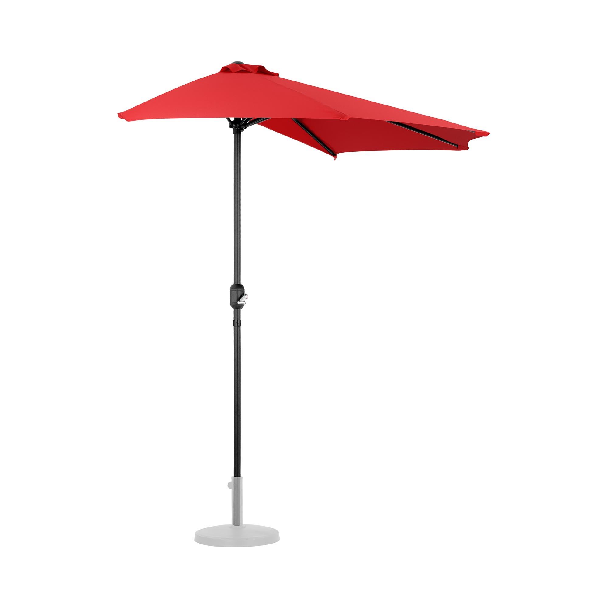 Uniprodo Halber Sonnenschirm - Rot - fünfeckig - 270 x 135 cm UNI_HALFUMBRELLA_R300RE