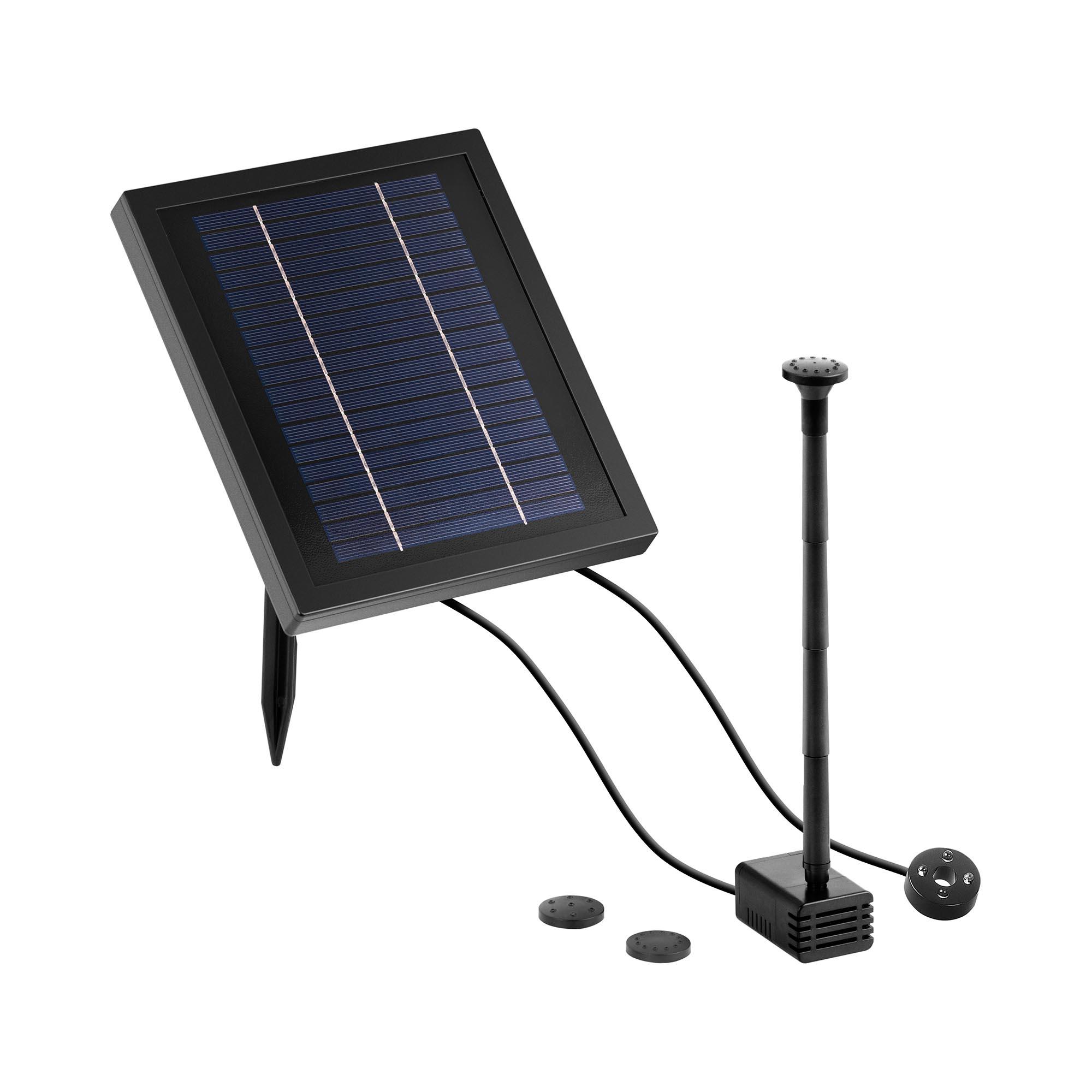 Uniprodo Solar-Springbrunnen - 250 l/h - LED UNI_PUMP_11