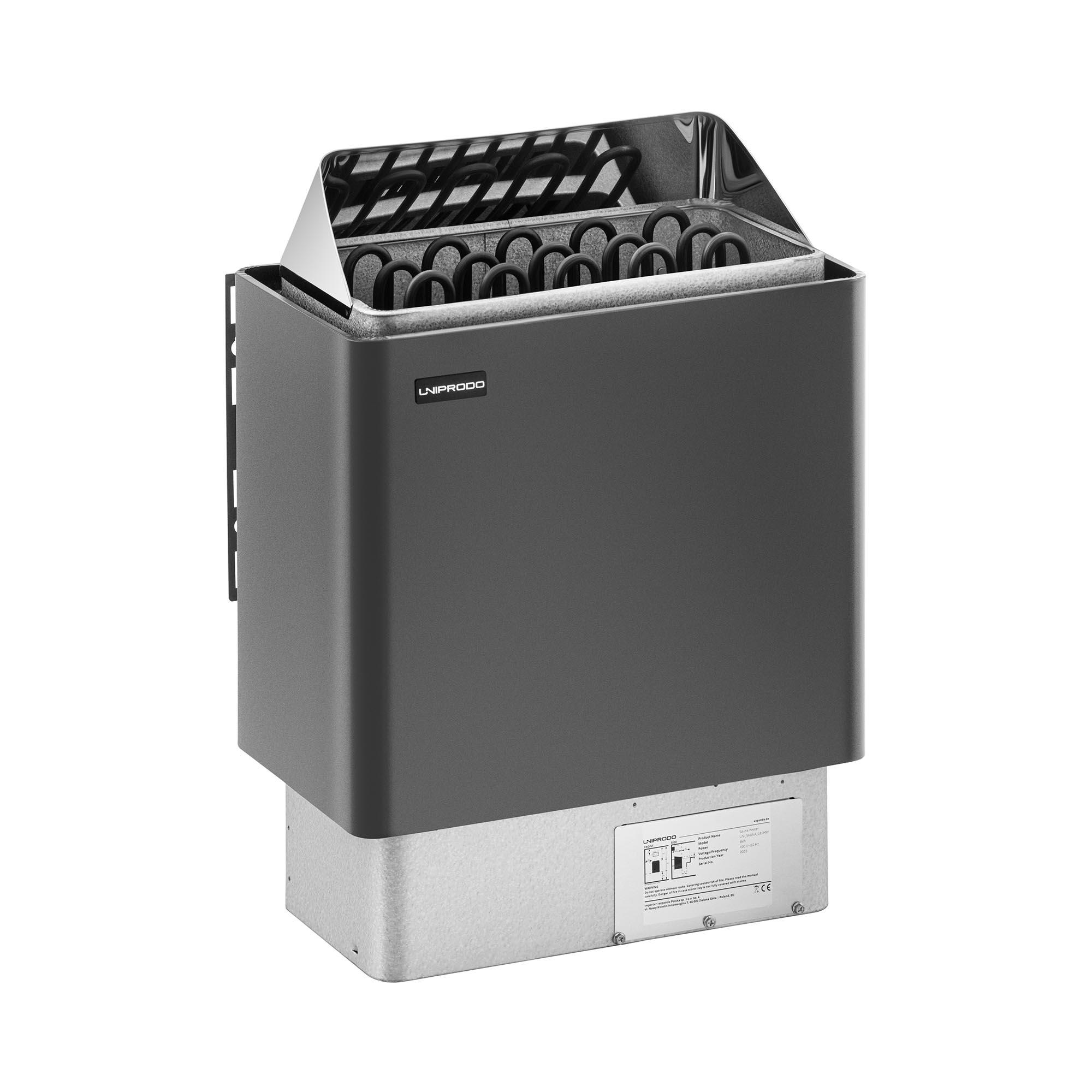 Uniprodo Saunaofen - 8 kW - 30 bis 110 °C UNI_SAUNA_G8.0KW