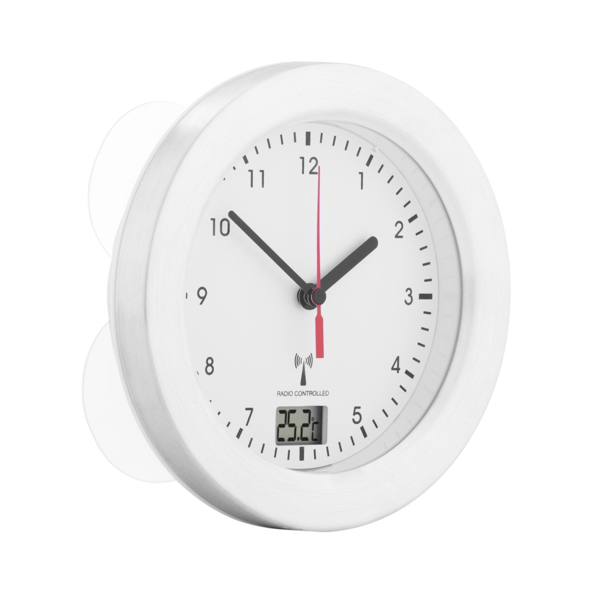 Uniprodo Badezimmeruhr - Funk - 17 cm 10250321