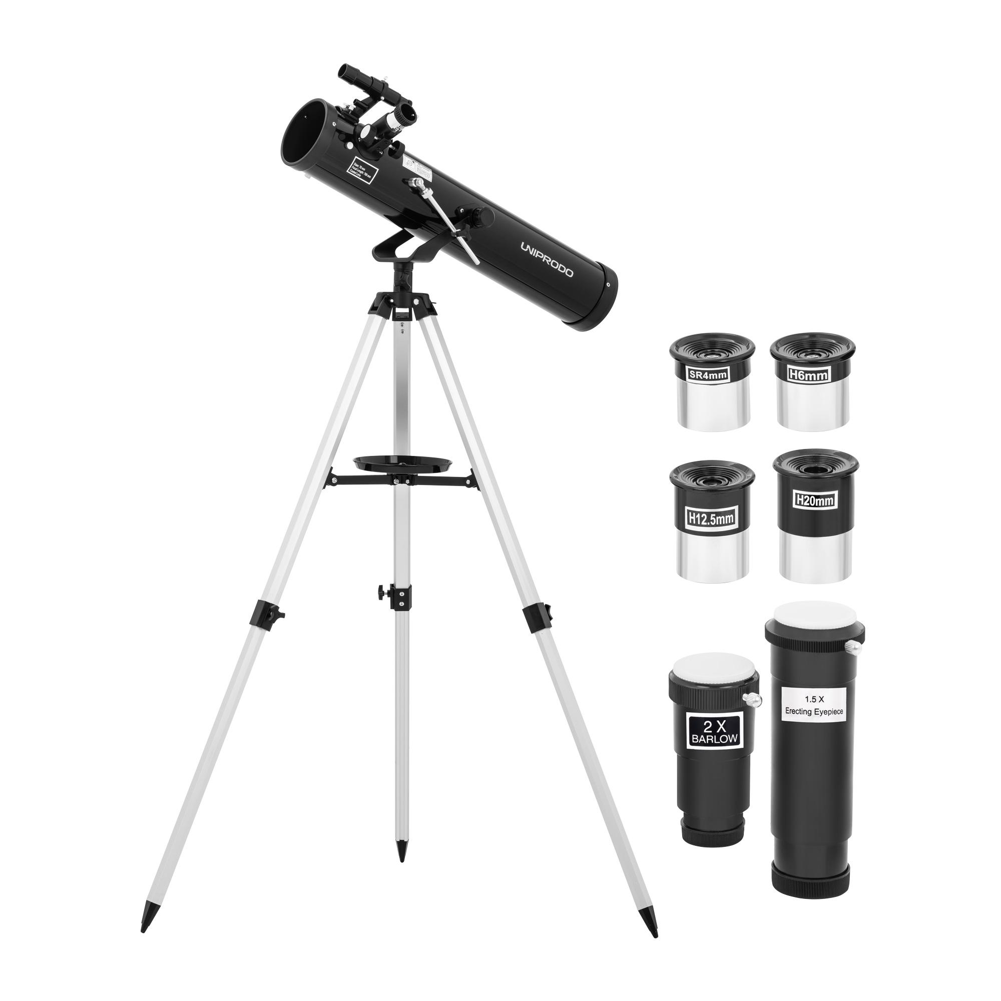 Uniprodo Teleskop - Ø 76 mm - 700 mm - Tripod-Stativ UNI_TELESCOPE_06