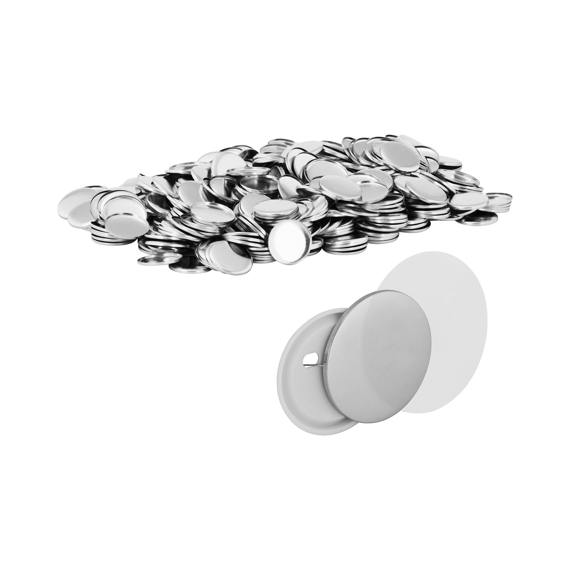 Uniprodo Buttonrohlinge - Ø 32 mm - 1.000 St. UNI_PB_32
