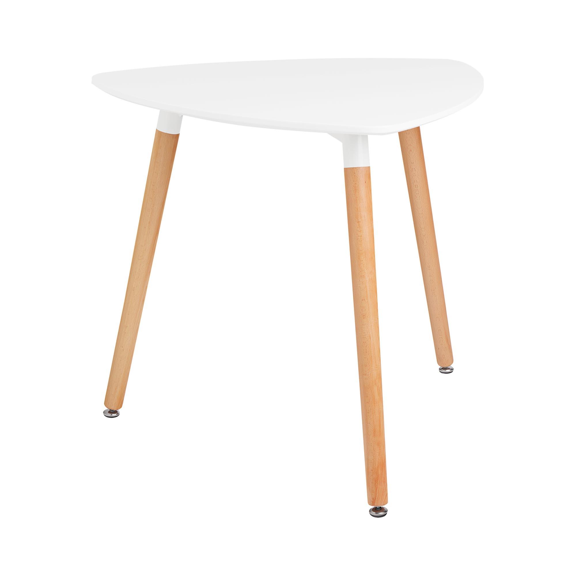 Fromm & Starck Tisch - dreieckig - 80 x 80 cm - weiß STAR_DESK_11