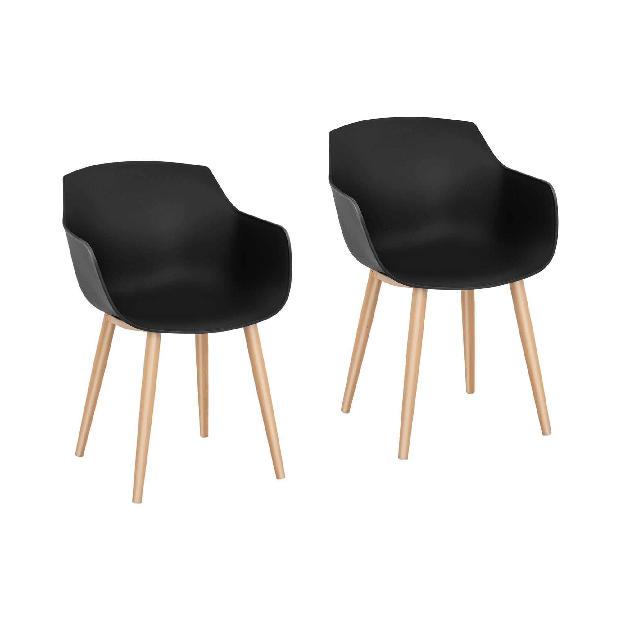 Fromm & Starck Stuhl - 2er Set - bis 150 kg - Sitzfläche 43 x 40 cm - schwarz STAR_SEAT_04
