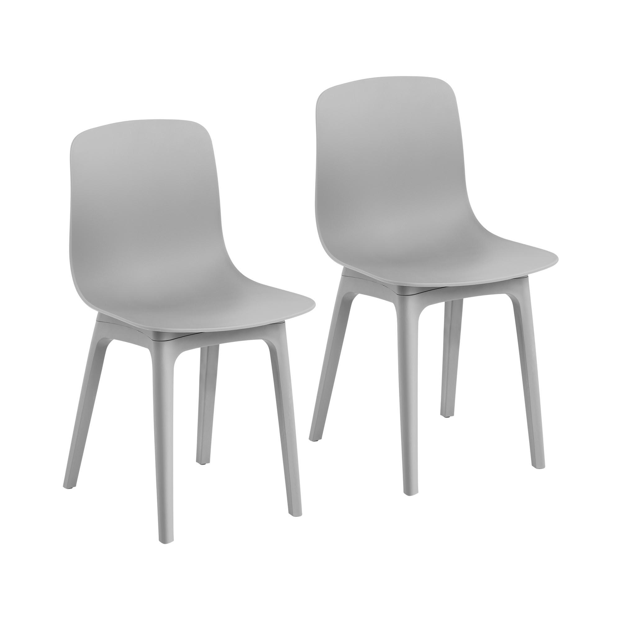 Fromm & Starck Stuhl - 2er Set - bis 150 kg - Sitzfläche 44 x 41 cm - grau STAR_SEAT_06