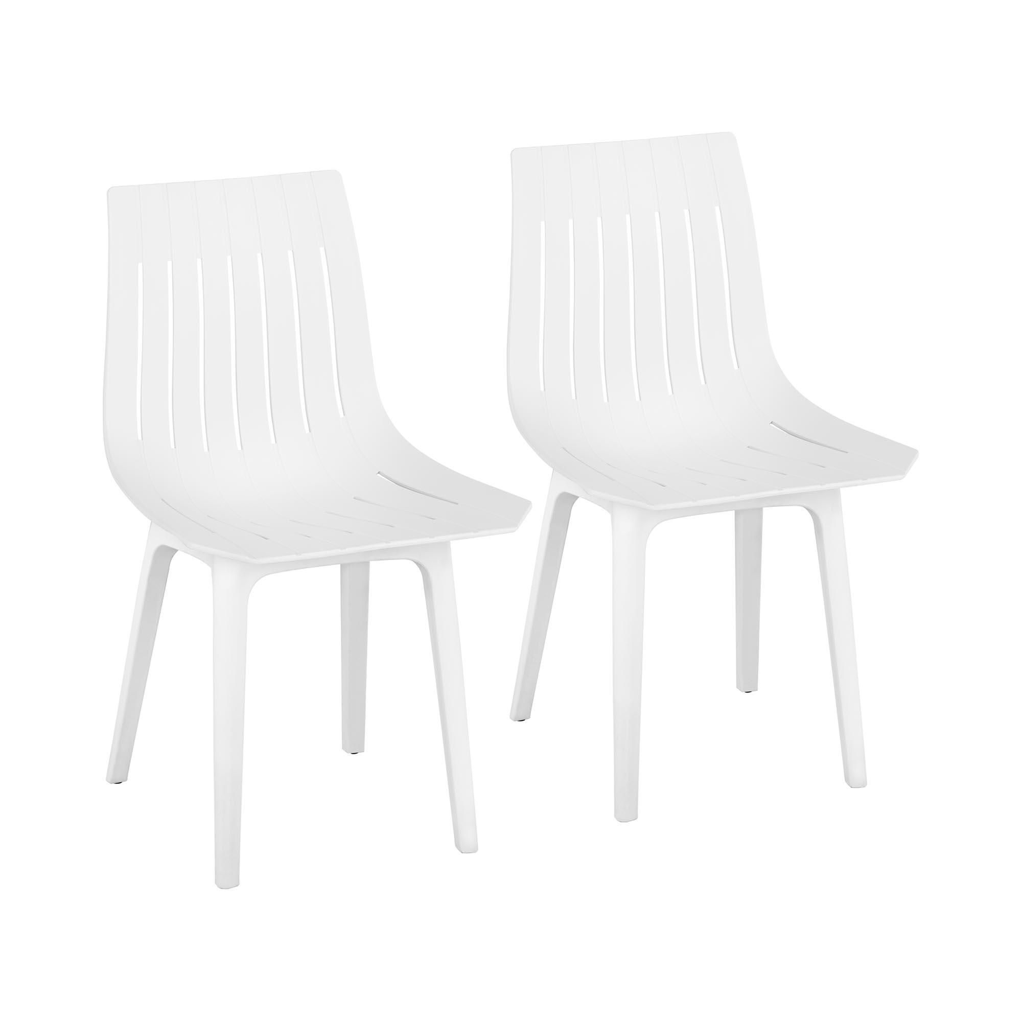 Fromm & Starck Stuhl - 2er Set - bis 150 kg - Sitzfläche 47 x 42 cm - weiß STAR_SEAT_07