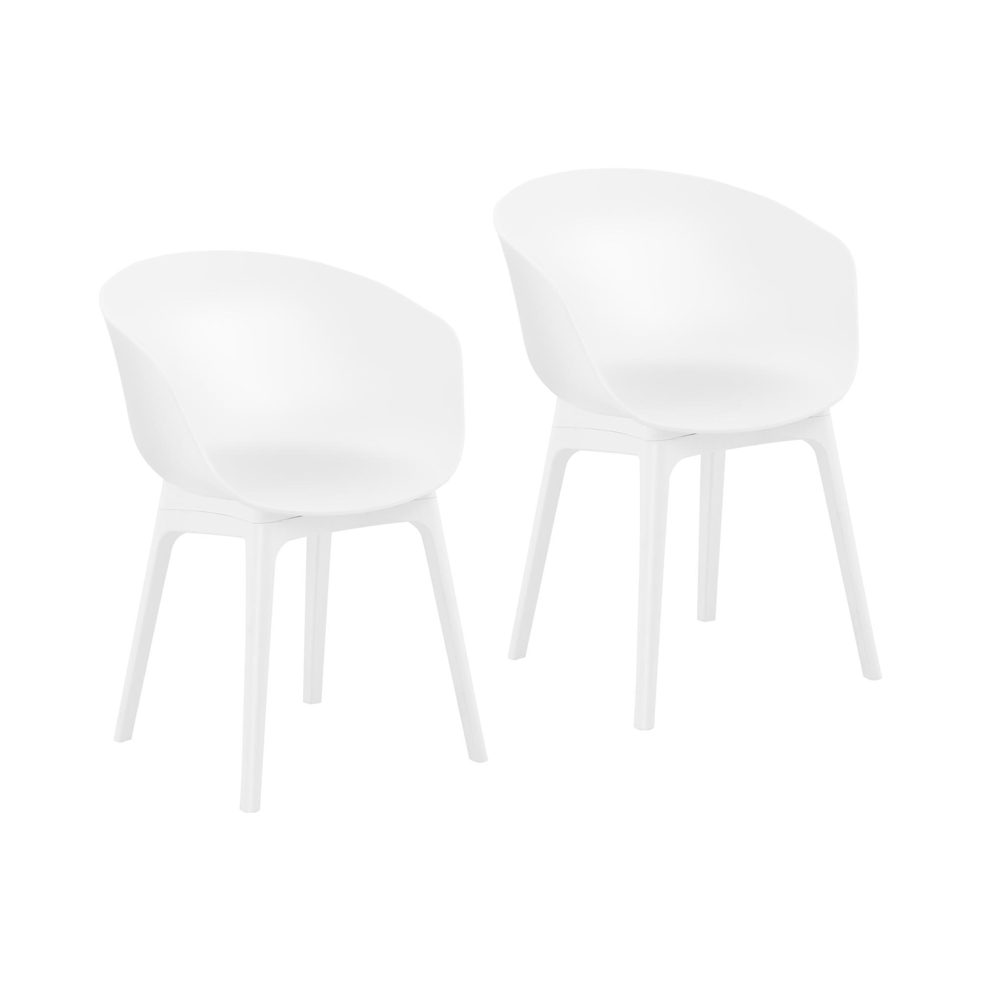 Fromm & Starck Stuhl - 2er Set - bis 150 kg - Sitzfläche 60 x 44 cm - weiß STAR_SEAT_12
