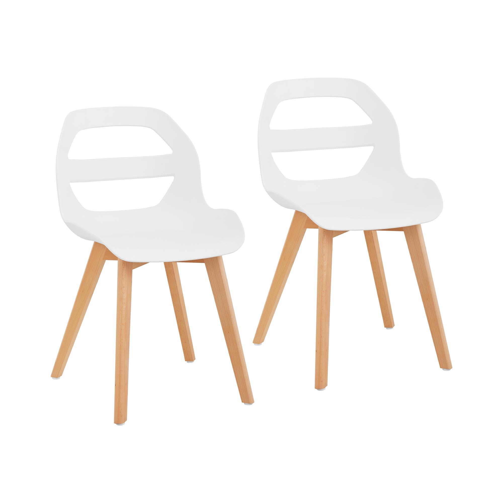 Fromm & Starck Stuhl - 2er Set - bis 150 kg - Sitzfläche 40 x 38 cm - weiß STAR_SEAT_15