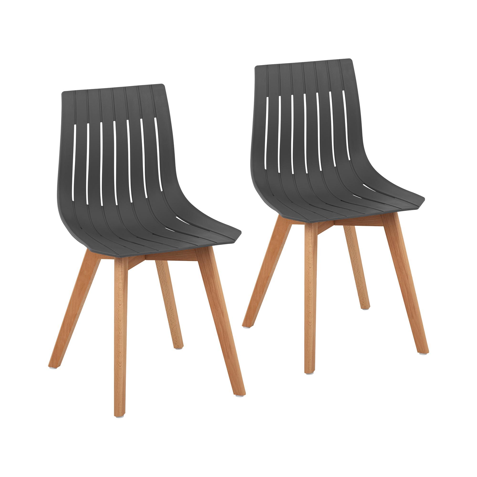 Fromm & Starck Stuhl - 2er Set - bis 150 kg - Sitzfläche 50 x 47 cm - grau STAR_SEAT_16