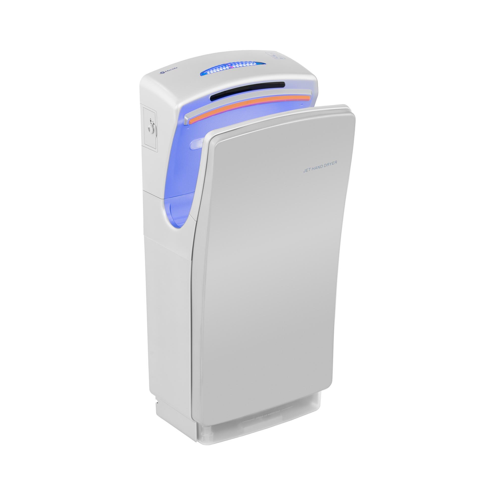 Merida Händetrockner - elektrisch - 1.400 W / 700 W - grau 10290001