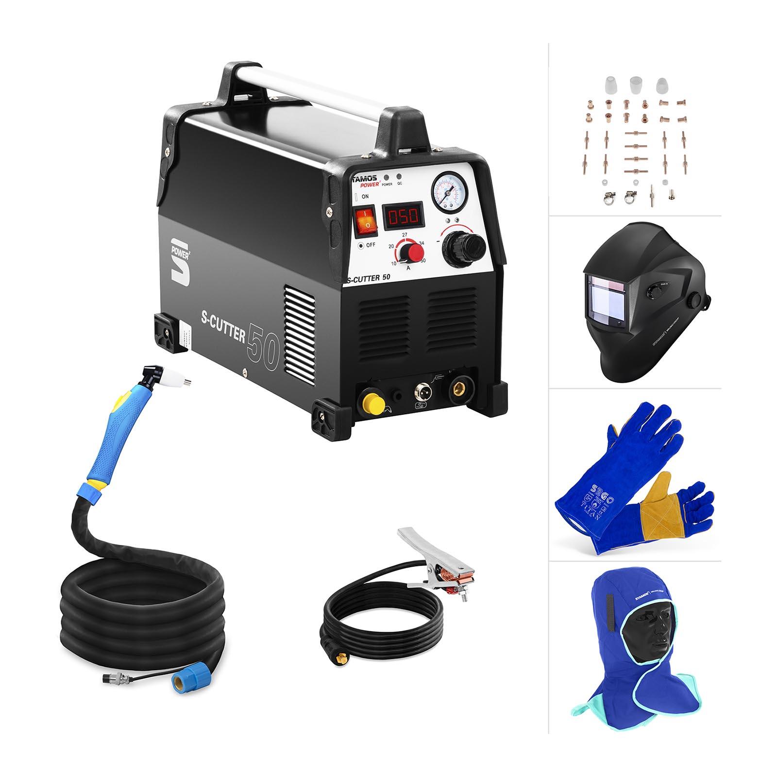 Stamos Power ² Plasmaschneider Set - 50 A- Schweißhelm - Schutzkleidung S-Cutter 50 Plasma Set 1